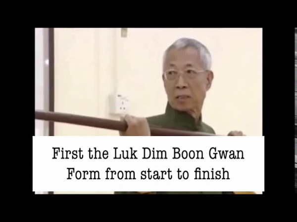 The Wing Chun Luk Dim Boon Gwan Pole Form explained by Chu Shong Tin (English Subtitled)