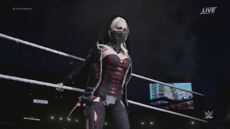 Maria Brink from IN THIS MOMENT in WWE (Entrance)