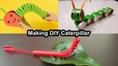 How to make Easy DIY Caterpillar from Straw Paper | Puppet for Kids