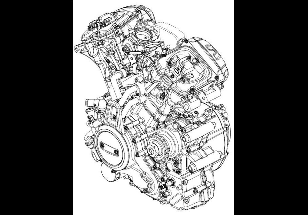 Детальные эскизы нового двигателя Harley-Davidson