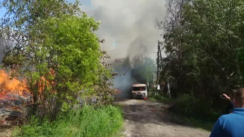 Пожар в Архангельске.