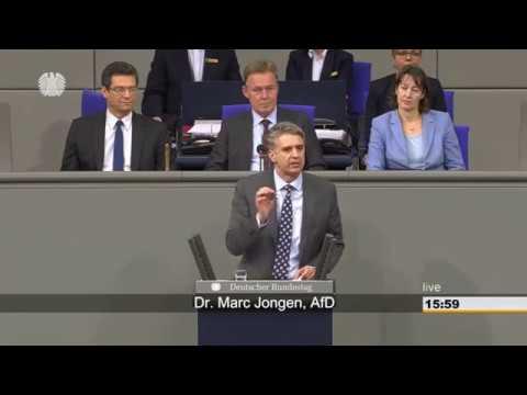 Dr. Marc Jongen (AfD). Zum Thema FridayforFuture kreischen die LINKEN und GRÜNINNEN im BT.