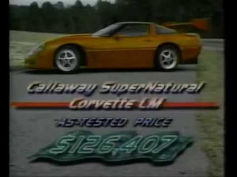Motorweek 1997 Chevrolet Corvette Callaway SuperNatural LM Road Test