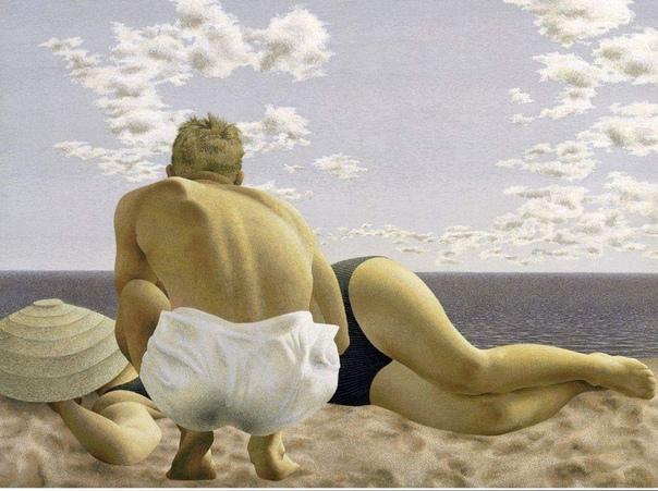 Алекс Колвилл (1920-2013), канадский художник, на картинах воссоздаёт напряжённое психологическое пространство.