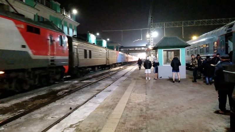 Электровоз ЭП2К со скорым поездом Улан-Батор - Москва