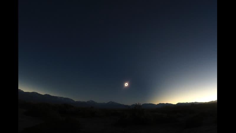 Полное солнечное затмение в Аргентине 2 июля 2019 Gopro3 провинция Сан Хуан