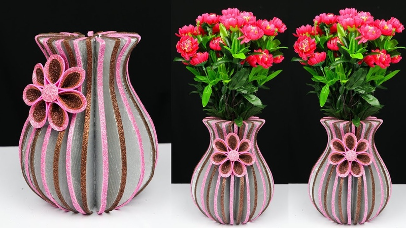 How to Make A Flower Vase At Home Best Out Of Waste Home Decor Ideas