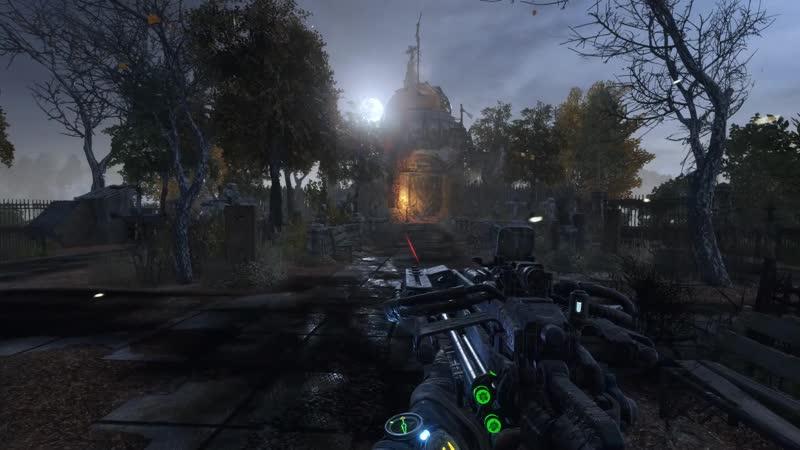 Metro Exodus проход мимо кладбища к церкви