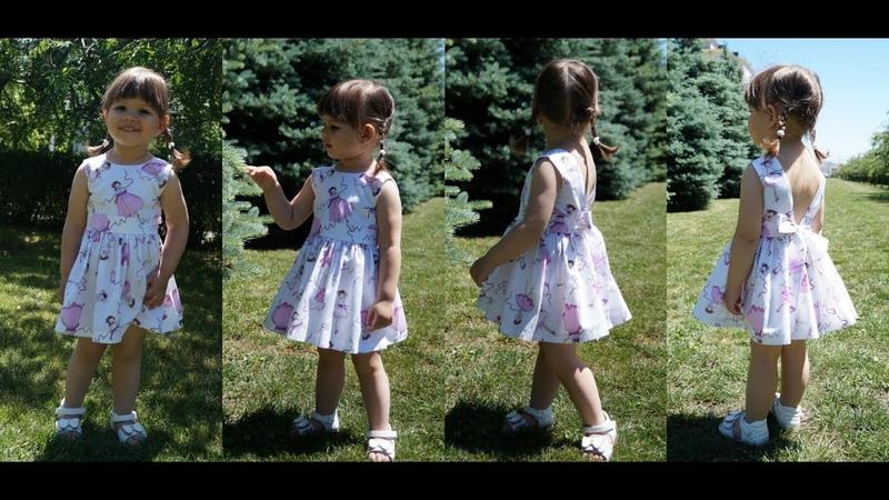 Детское платье из хлопка. Часть 1/Children's dress made of cotton. Part 1