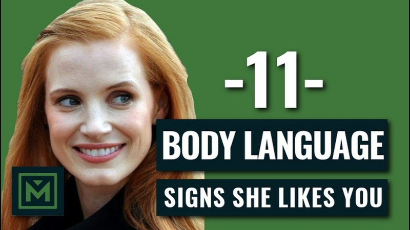 11 Body Language Signs She's Attracted To You HIDDEN Signals She Likes You