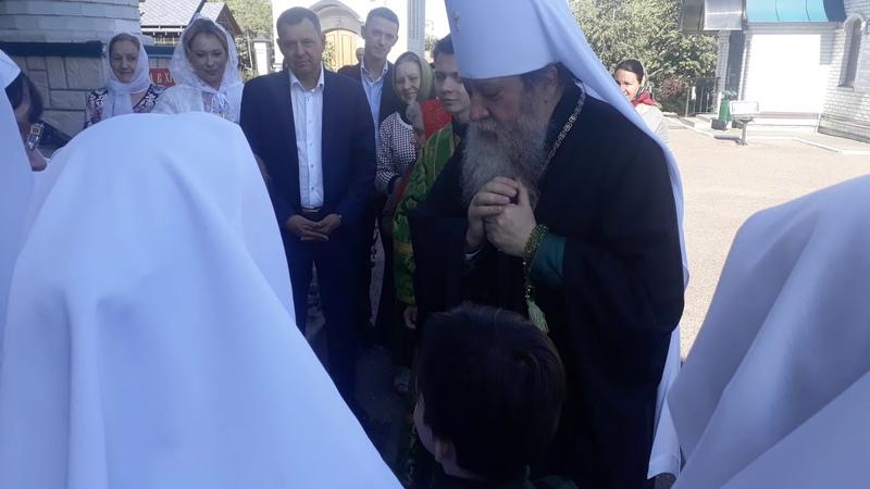 Встреча митрополита в храме Святой Троицы г.Оренбурга