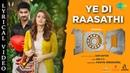Ye Di Raasathi Lyrical 100 Atharvaa Hansika Sam C S Sam Anton