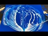 Painting HEAVENLY SPIRITS!! String Pull Fluid Painting Acrylic Pouring Fluid Art. Wigglz Art