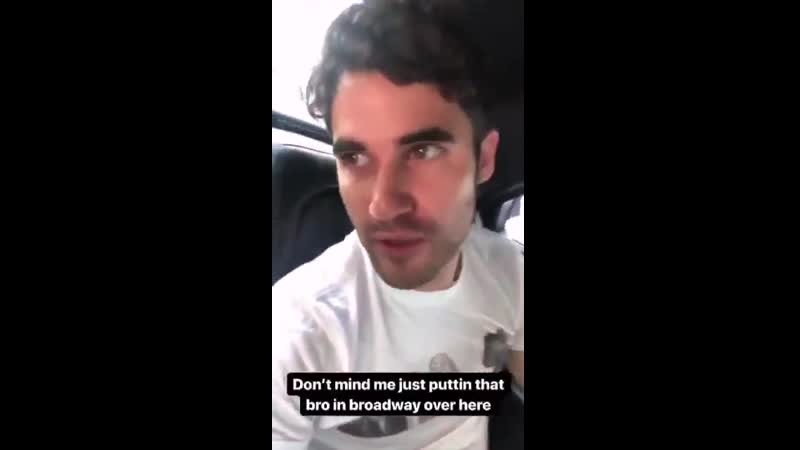 VIDEO Darren Criss at the Tony awards rehersal with Judith Light and on his way to workout after via his IG Story