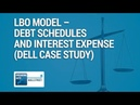 LBO Model - Debt Schedules Interest Expense (Dell Case Study)