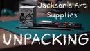 1 unUSEFUL UNPACKING - Jackson's Art Supplies: Uni POSCA Markers WinsorNewton Ink