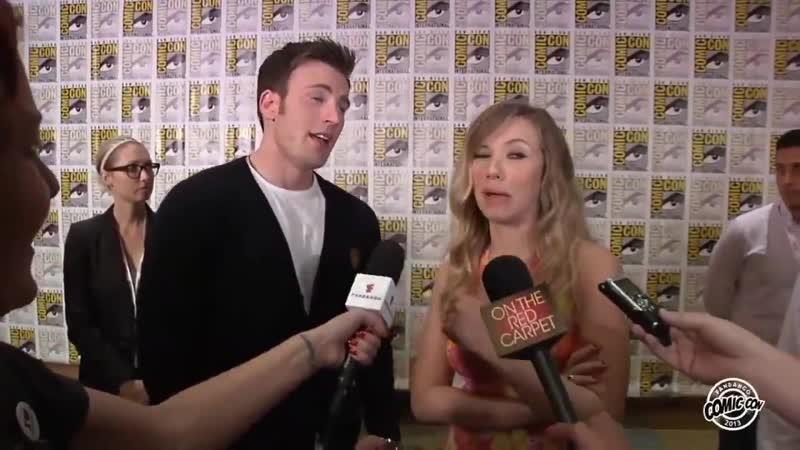 Scarlett trying to wink