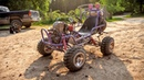 Barbie Jeep Gets Custom 4 Link Suspension Shred Session!