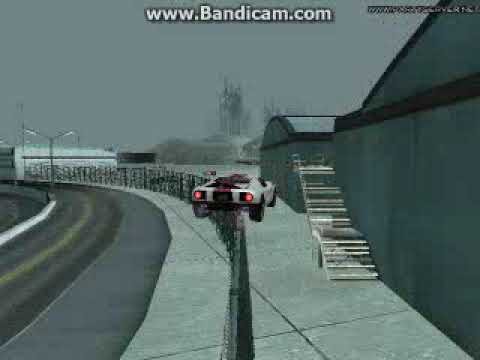 GTA San Andreas driving on fence