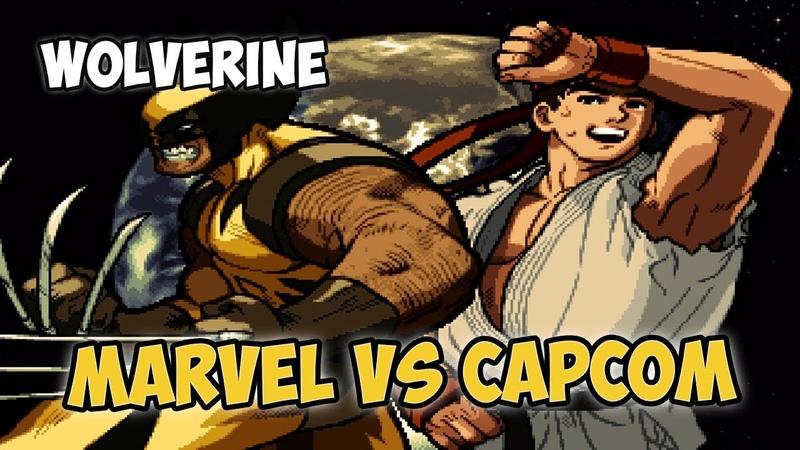 Marvel VS Capcom: Clash of Super Heroes [PS] Ryu vs. Wolverine