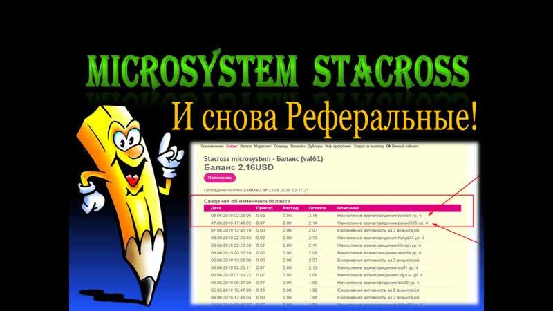 STACROSS МИКРОСИСТЕМА - 🎇 🎆 И снова Реферальные! 🎇 🎆 А также выплаты наших партнёров! 🎇 🎆