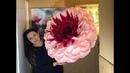 Большой цветок. Гербера. Подробный МК. Big flower. Gerbera. Detailed video tutorial.