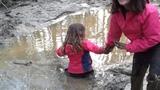 TN girls get stuck in quick sand at Carolina Adventure World!! Wonder sister gives high five!!