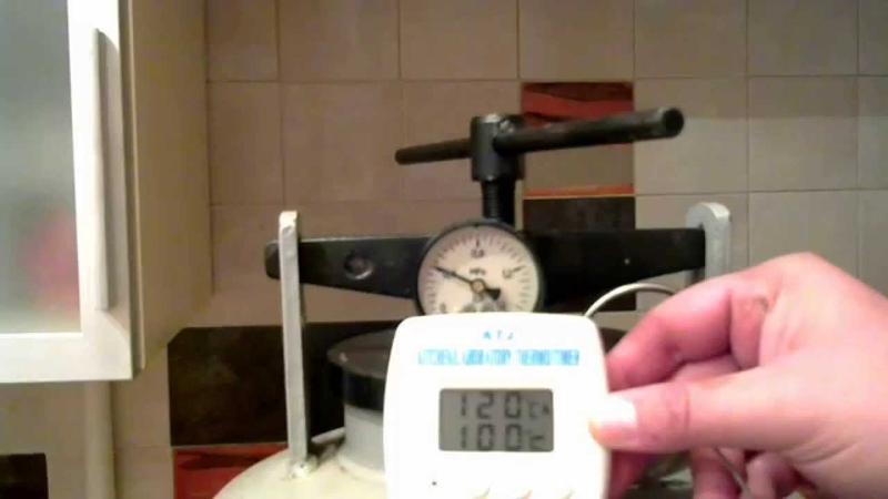 Зависимость температуры от давления в автоклаве (Эксперимент)