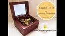 Wooden Wind Up Clorkwork Hurdy Gurdy Sankyo Music Box Canon in D Pachelbel