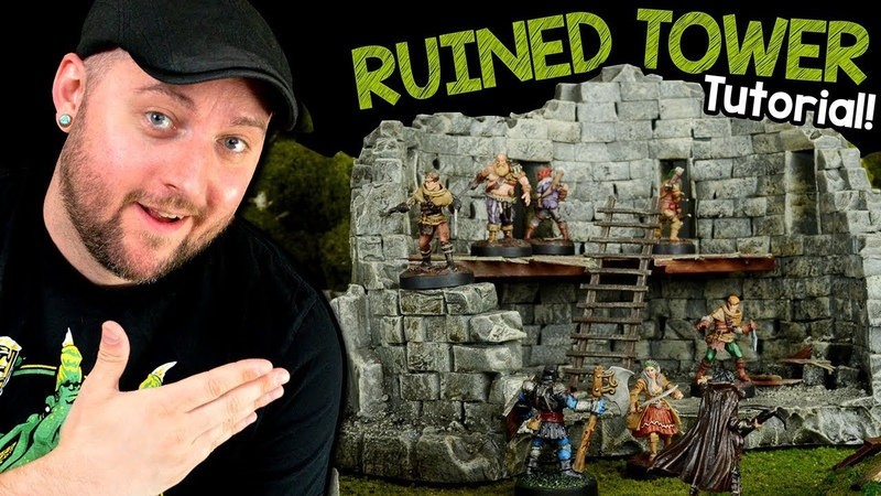 Ruined Tower Terrain for D D Tutorial Black Magic Craft Episode 095