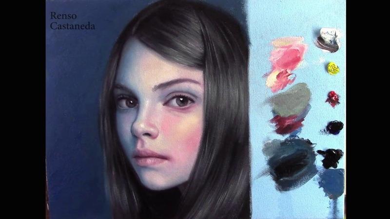 Como pintar un retrato - contraste de temperatura (video acelerado)