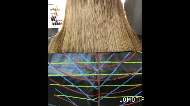 Тонирование осветлённых волос