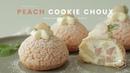 Peach Cookie Choux(Cream puff) Recipe