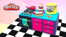 Doll Kitchen Dollhouse DIY Crafts for Dolls Miniatures with Play Doh Clay