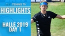Zverev Monfils Knocked Out Halle 2019 Highlights Day 1
