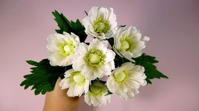 Очень красивые ХРИЗАНТЕМЫ из бумаги Мастер класс Цветы из гофрированной бумаги