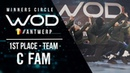 C Fam 1st Place Team Division World of Dance Antwerp Qualifier 2018 Winners Circle