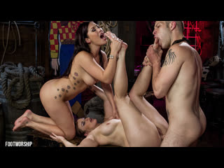 London keyes, bella rossi [hd porn, foot fetish sex, group, femdom, natural tits, big ass, feet, hardcore, lesbian]