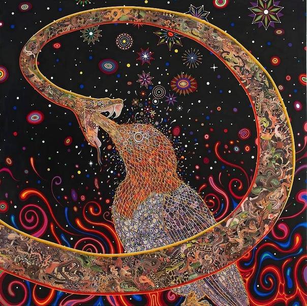 Психоделический калейдоскоп Фреда Томаселли Американский художник Fred Tomaselli (Фред Томаселли) наиболее известен своими высоко детализированными картинами на деревянных панелях, сочетающих