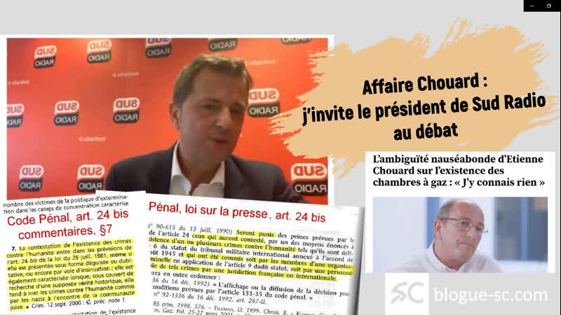Affaire Chouard jinvite le patron de Sud Radio au débat