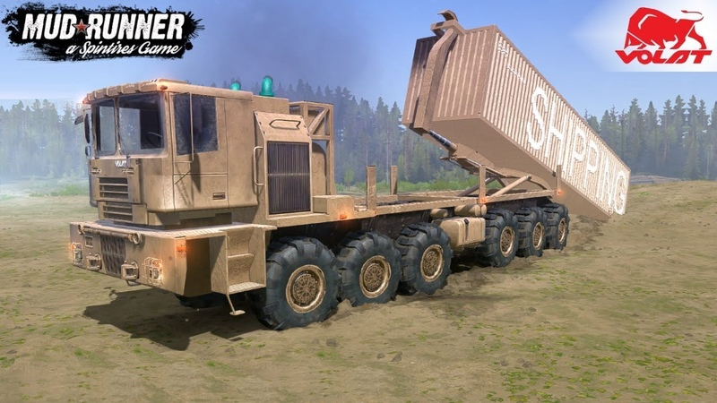 Spintires MudRunner - MZKT-74086 VOLAT The Biggest Army Truck