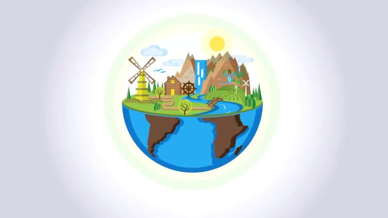 Ecology concept graphic design