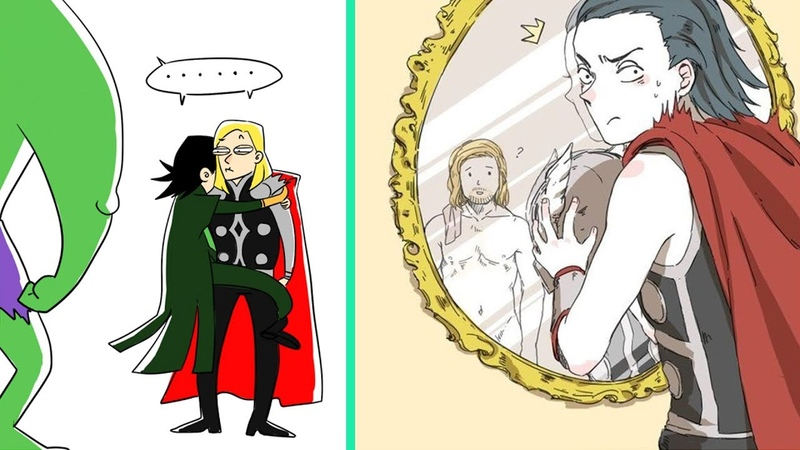 Funny Thor And Loki Comics | Thorki Funny Part 2