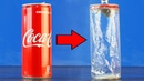 Coca Cola and Drain Cleaner The secret of the aluminum can Amazing Experiment