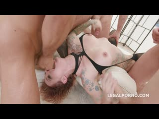 Gagland wet edition, sammie six gets gagged & manhandled with piss drink & facial gio990