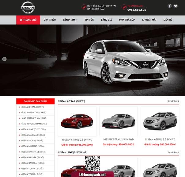 Web bán xe ô tô nissan thumbnail