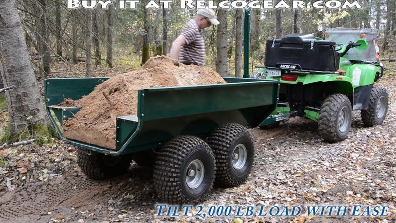 MUTS ATV Dump Trailer - - Heavy Duty - 2,000 lb Capacity - Tandem Axle - Walking Beam