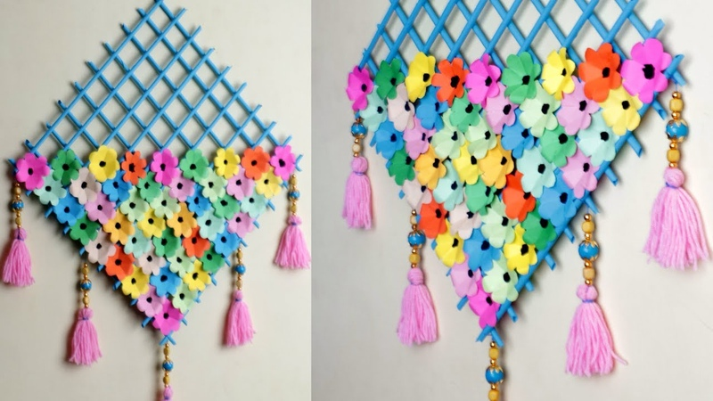 WOW !! DIY Paper Wall Hanging || Easy Wall Decoration Idea || Paper Craft...