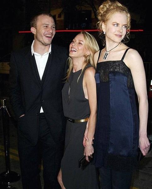 """Наоми Уоттс, Хит Леджер и Николь Кидман на премьере фильма """"Звонок"""" в октябре 2002 года."""
