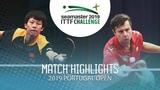 Lin Gaoyuan vs Vladimir Samsonov 2019 ITTF Challenge Plus Portugal Open Highlights (12)